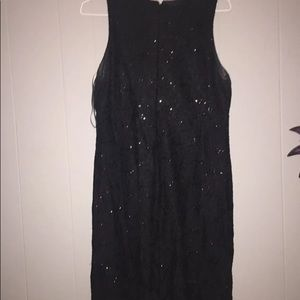 Black Sequence Homecoming dress